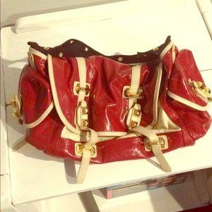 BCBGMaxAzria bag red white
